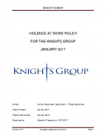 Violence At Work Policy